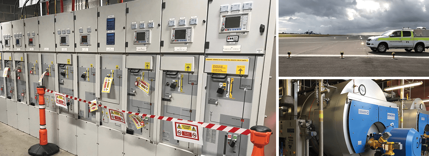 electrical low voltage system with associated safe systems of work signage